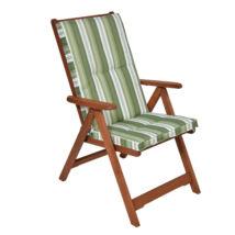 Kerti 5 pozíciós karfás szék párnával